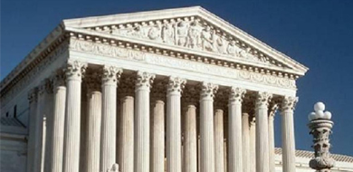 Angled view of the Supreme Court