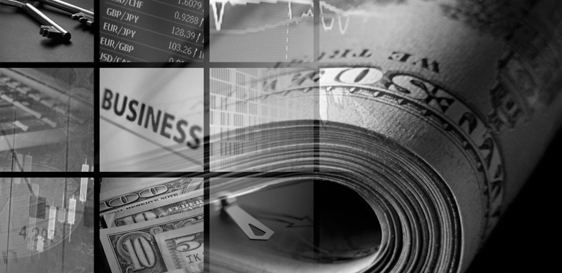 Collage, Money and business