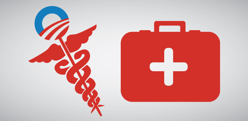 Symbol and first aid kit
