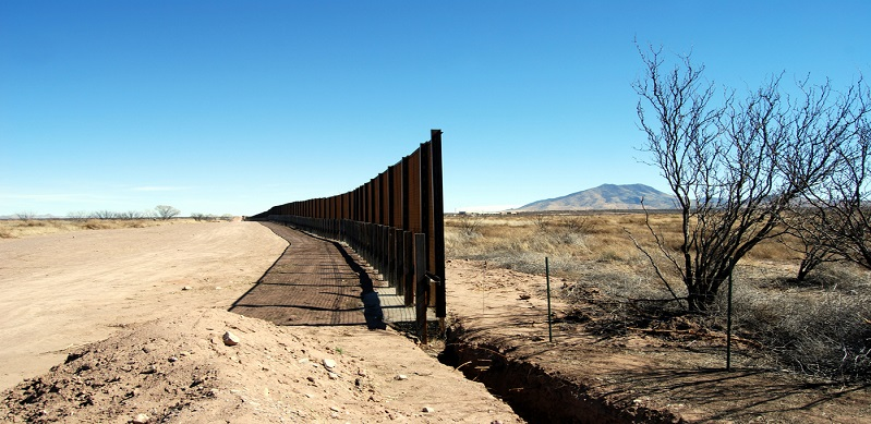 View of border fence