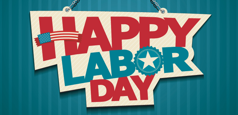 Happy Labor Day, red white and blue