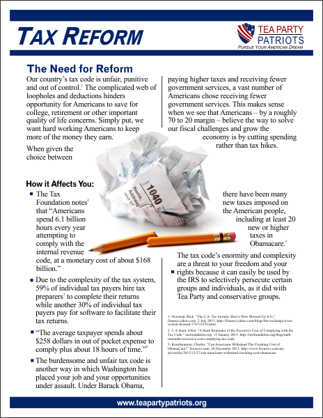 Tax Reform Flier