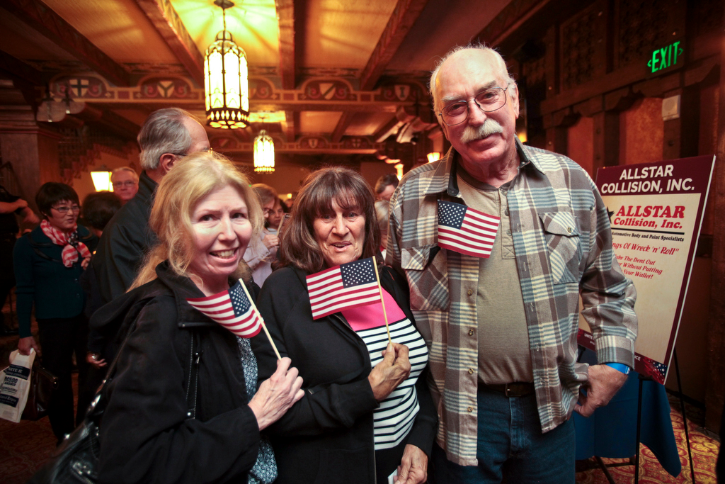 Tea Party Patriots with American flags